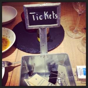 Le panier à tickets