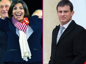 Anne Hidalgo et Manuel Valls - Photo ABACA press