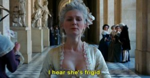 Marie-Antoinette frigide - Kirsten Dunst