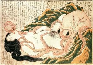 Le rêve de la femme du pêcheur - Hokusai 1814